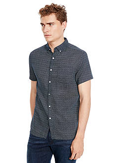 Kenneth Cole New York Short Sleeve Dot Print Shirt