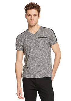 Kenneth Cole New York V-Neck Nylon Trim Tee