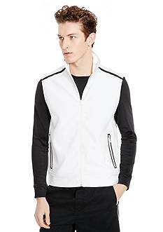 Kenneth Cole New York Contrast Zip-Front Vest