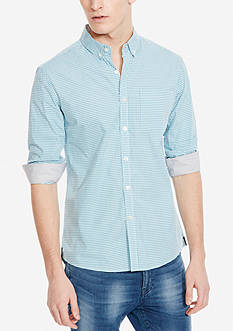 Kenneth Cole Long Sleeve Slim Button Down Shirt
