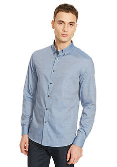 Kenneth Cole New York Long Sleeve Chambray Slim Shirt