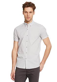 Kenneth Cole Short Sleeve Horizontal Stripe Shirt