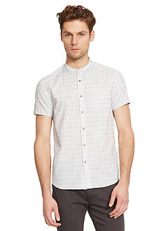 Kenneth Cole Short Sleeve Collarband Shirt