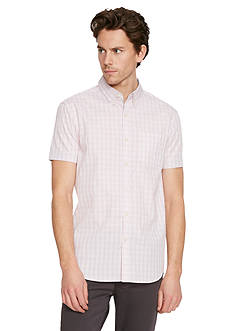 Kenneth Cole Short Sleeve Ombre Check Shirt
