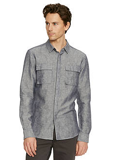 Kenneth Cole New York Long Sleeve Modern Utility Shirt