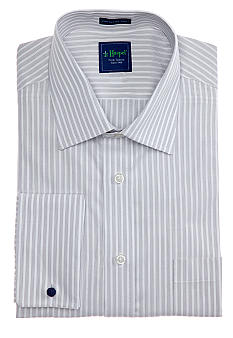 Haspel Dobby Stripe Dress Shirt