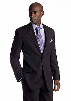 Adolfo Classic Fit Black Stripe Suit Separate Coat