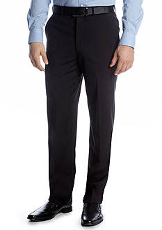 Adolfo Classic Fit Black Solid Suit Separate Pants