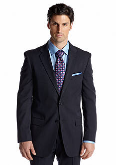 Adolfo Classic Fit Navy Neat Suit Separate Coat