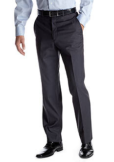 Adolfo Classic Fit Grey Solid Suit Separate Pants