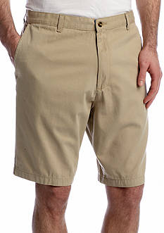 Saddlebred Flat-Front Twill Shorts