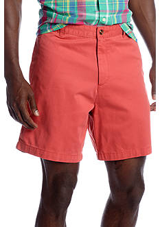 Saddlebred 7-in. Flat Front Twill Shorts
