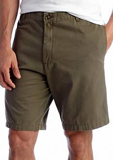 Saddlebred® Flat Front Twill Shorts