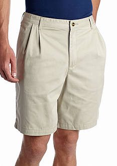 Saddlebred Big & Tall 9-in. Pleated Shorts