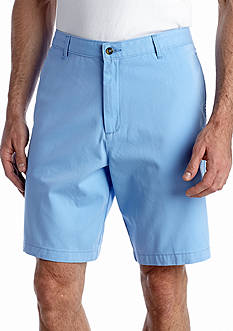 Saddlebred 9-in. Flat-Front Twill Shorts