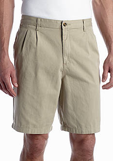 Saddlebred 9-in. Pleated Twill Shorts