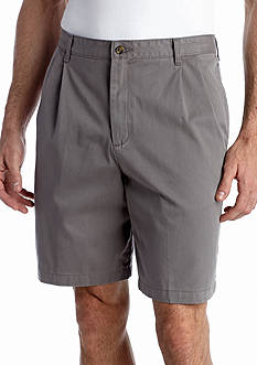 Saddlebred Big & Tall 9-in. Pleated Twill Shorts