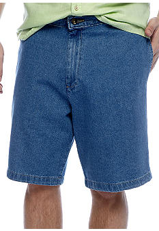 Saddlebred® Flat Front Denim Shorts