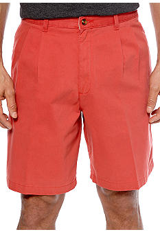 Saddlebred Big & Tall Cell Pocket Pleated Shorts