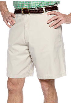 Saddlebred Big & Tall Flat Front Twill Shorts