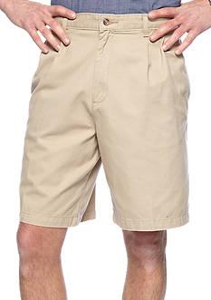 Saddlebred Big & Tall Pleated Twill Shorts