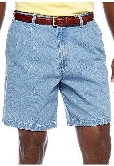 Saddlebred Big & Tall Pleated Denim Short