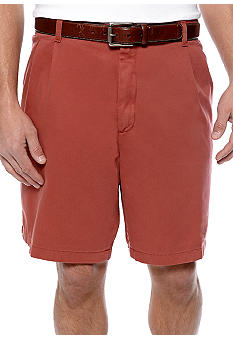 Saddlebred® Big & Tall Pleated Shorts