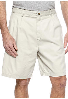 Saddlebred® Big & Tall Cell Pocket Pleated Shorts