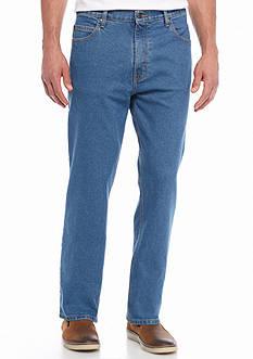 Saddlebred Five-Pocket Straight Comfort Stretch Jeans