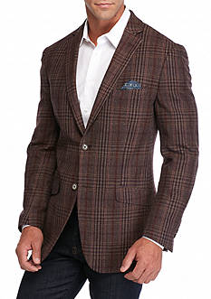 Tallia Orange Slim-Fit Check Sport Coat