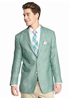 Tallia Orange Slim-Fit Mint Green Linen Sport Coat