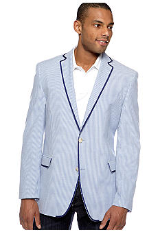 Tallia Orange Slim-Fit Striped Sportcoat