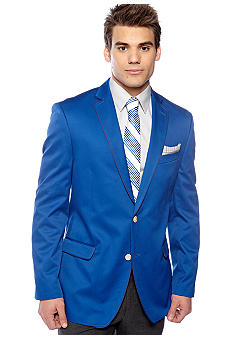 Tallia Orange Slim Fit Cobalt Cotton Sportcoat