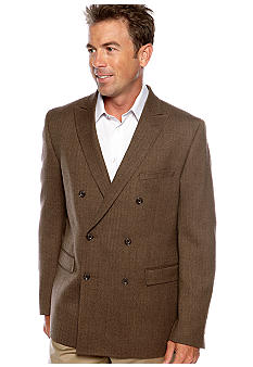 Tallia Orange Brown Herringbone Sportcoat