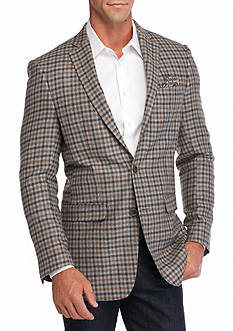 Tallia Orange Slim-Fit Grid Sport Coat