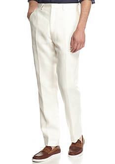 Tallia Orange Classic-Fit Solid Linen Pants