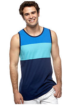 Red Camel Colorblock Ringer Tank