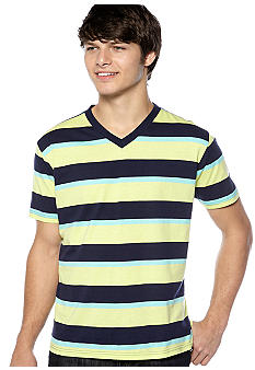 Red Camel® Stripe V-Neck Jersey Tee