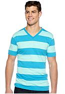 Red Camel® Rugby Stripe V-Neck Tee