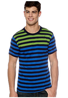 Red Camel Multi Stripe Tee