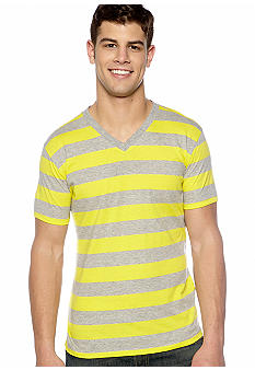 Red Camel Rugby Stripe V-Neck Tee