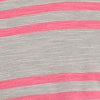 Young Men: Solids & Stripes Sale: Warm Gray Red Camel Short Sleeve Triple Stripe V-Neck T-Shirt