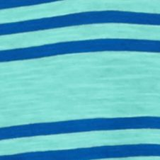 Young Men: Solids & Stripes Sale: Turquoise Foam Red Camel Short Sleeve Triple Stripe V-Neck T-Shirt