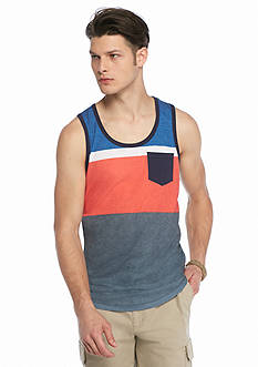 Red Camel Colorblocked Stripe Tank
