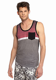 Red Camel Blocked Stripe Pocket Tank