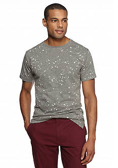 Red Camel Short Sleeve Paint Splatter Longer Tee