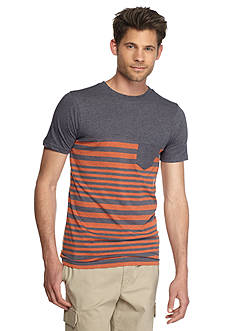 Red Camel Short Sleeve Varigated Stripe T-Shirt