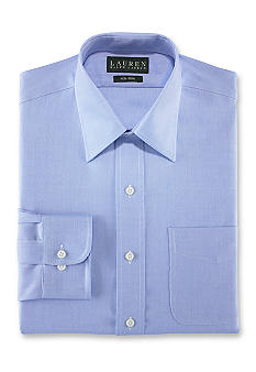 Lauren Ralph Lauren Dress Shirt Slim-Fit Woven Herringbone Non-Iron Dress Shirt
