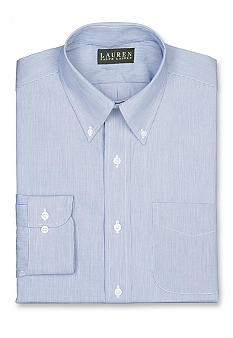 Lauren Ralph Lauren Dress Shirt Classic-Fit Hairline-Striped Cotton Broadcloth Dress Shirt