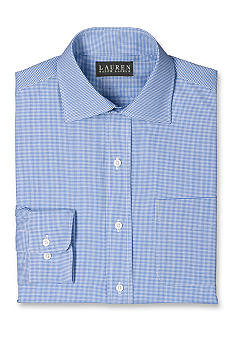 Lauren Ralph Lauren Dress Shirt Custom-Fit Warren Micro-Check Non-Iron Dress Shirt<br>